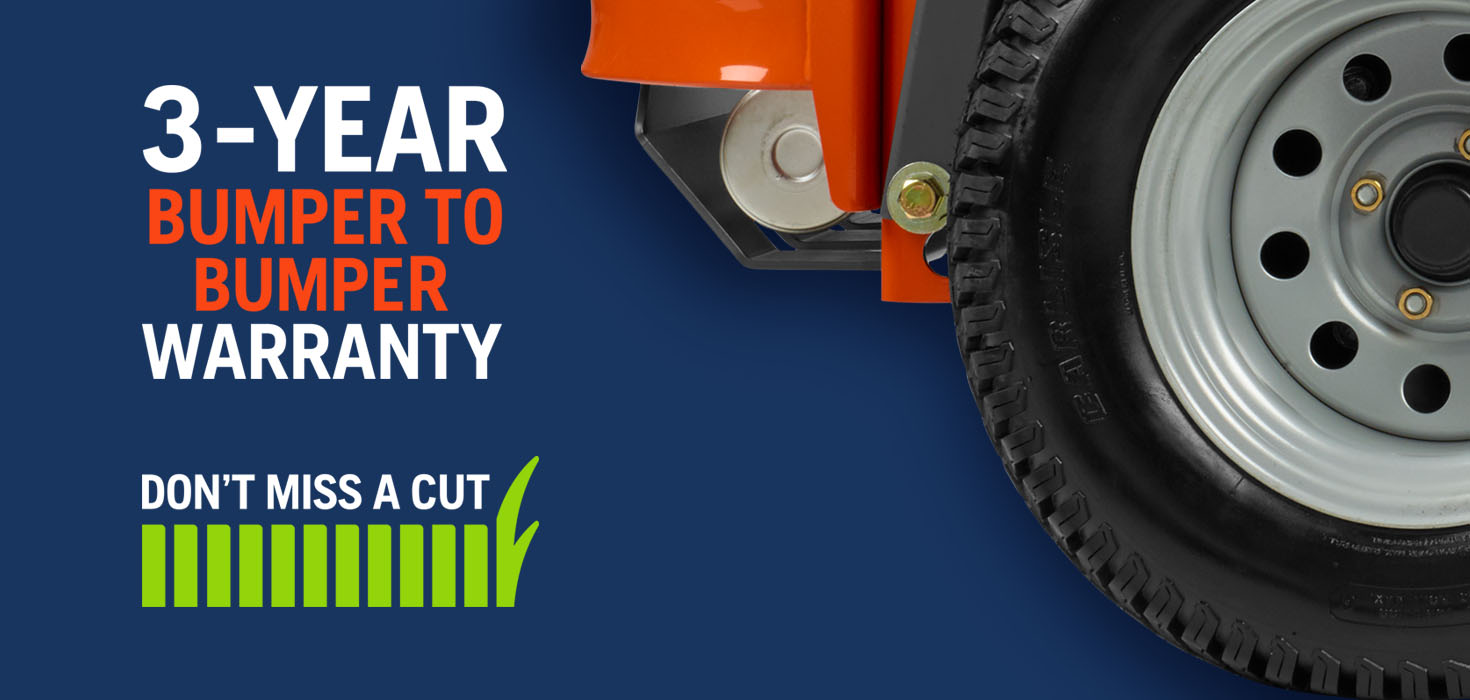 Don't Miss a Cut With Our Bumper-to-Bumper Warranty
